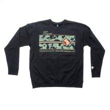 Black Pullover Sweatshirt w/ Camo Graphic-M