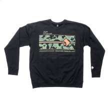 Black Pullover Sweatshirt w/ Camo Graphic-M