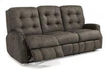 Devon Fabric Reclining Sofa with Nailhead Trim