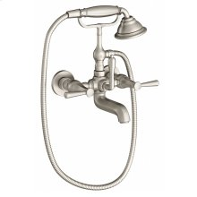 Fitzgerald Wall Mount Tub Filler - Brushed Nickel