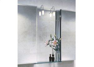 Wall Mirror Light, Chrome and Glass Shade Product Image