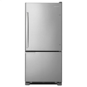 Amana29-inch Wide Bottom-Freezer Refrigerator with Garden Fresh™ Crisper Bins -- 18 cu. ft. Capacity - stainless steel