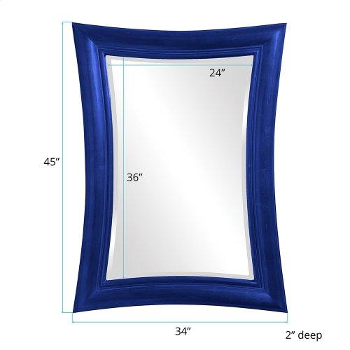 Fairmont Mirror - Glossy Royal Blue