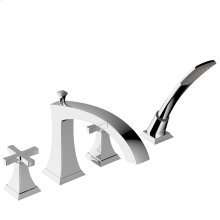 Roman Tub Faucet With Hand Shower Leyden Series 14 Polished Chrome 1