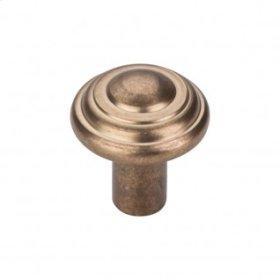 Aspen Button Knob 1 1/4 Inch - Light Bronze