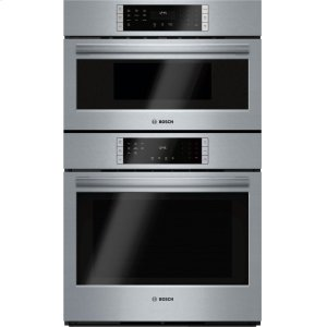 "Bosch800 Series, 30"" Combo, Upper: Microwave, Lower: Eu Conv, Touch Control"