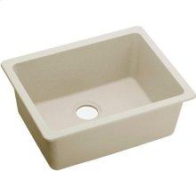 """Elkay Quartz Luxe 24-5/8"""" x 18-1/2"""" x 9-1/2"""", Single Bowl Undermount Sink, Parchment"""