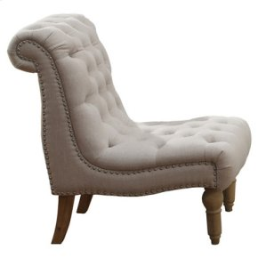 Emerald Home Hutton II Accent Chair Armless Nailhead Natural U3164-15-09