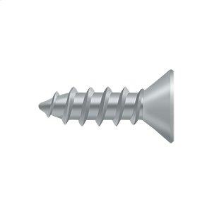 """Wood Screw, Steel, #12 x 3/4"""" - Brushed Chrome"""