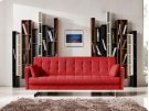 Divani Casa Tejon Modern Red Fabric Sofa Bed Product Image