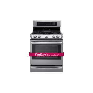 LG Appliances6.3 cu. ft. Gas Single Oven Range with ProBake Convection(R), EasyClean(R) and Warming Drawer