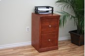 "A-T178 Traditional Alder 2-Drawer Letter File Cabinet, 17 7/8""W x 17""D x 30""H"