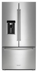 """23.8 cu. ft. 36"""" Counter-Depth French Door Refrigerator - Stainless Steel Product Image"""