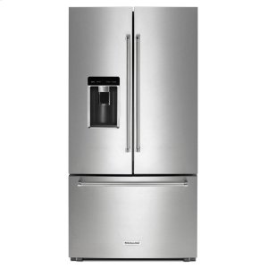 "Kitchenaid23.8 cu. ft. 36"" Counter-Depth French Door Refrigerator - Stainless Steel"