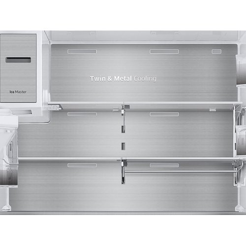 23 cu. ft. Capacity Counter Depth 4-Door French Door Refrigerator with Polygon Handles