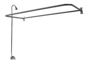 "Rectangular ""D"" Shower Unit - 60"" x 26"" - Brushed Nickel"