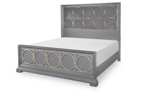 Tower Suite - Moonstone Finish Panel & Metal Bed Queen 5/0