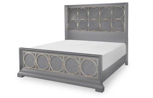 Tower Suite - Moonstone Finish Panel & Metal Bed Queen 5/0