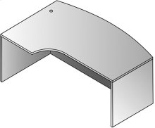 Kenwood Bow Desk - 72x46 Cmptr Corner Left