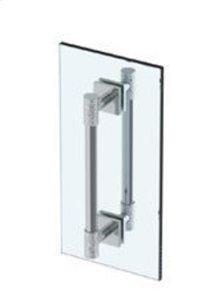 """Sense 18"""" Double Shower Door Pull/ Glass Mount Towel Bar"""