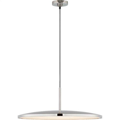 Visual Comfort PB5001PN Peter Bristol Dot LED 17 inch Polished Nickel Pendant Ceiling Light