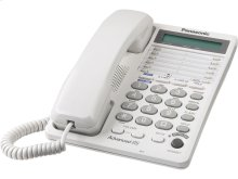 2-Line Integrated Telephone System with 16-Digit LCD and Clock