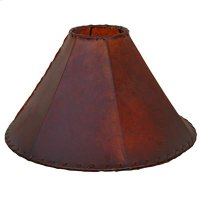 "24"" shade Red Leather Lamp Shades 20"" and 24"" Product Image"