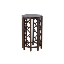 Accent Table, Available in Antique Pecan Finish Only.