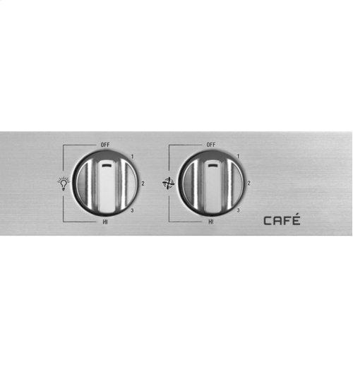 "GE Cafe Series 48"" Stainless Steel Professional Hood"
