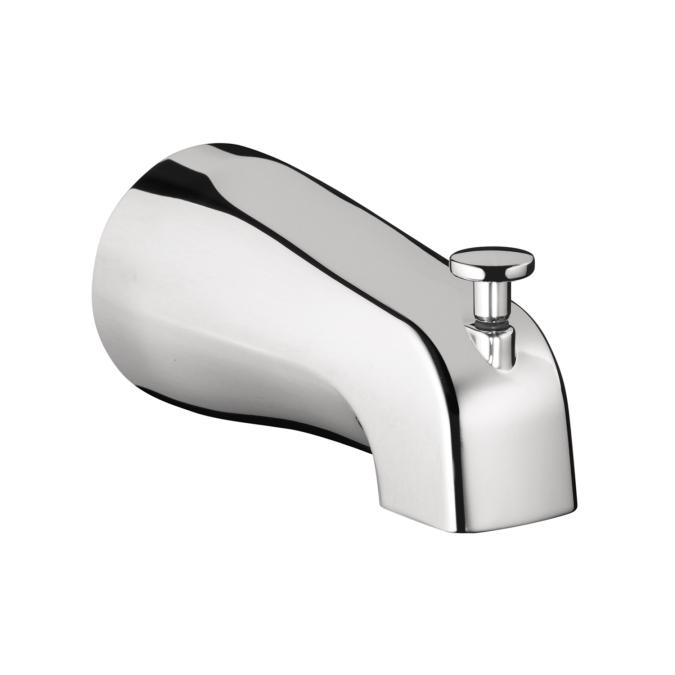 Chrome Commercial Tub Spout with Diverter
