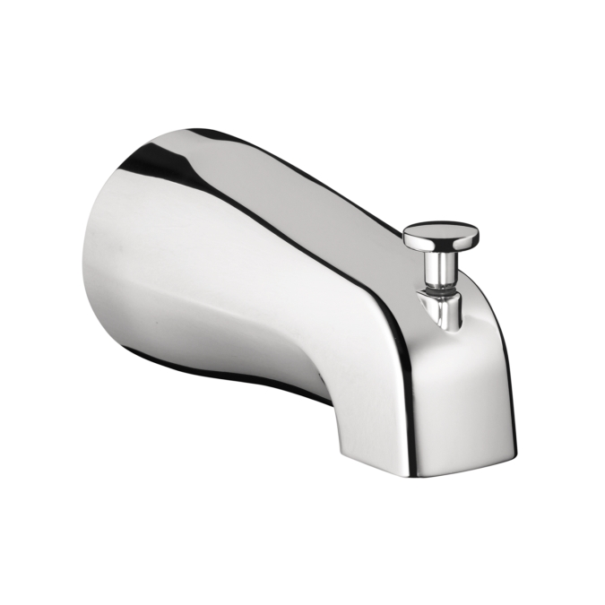 Chrome Commercial Tub Spout with Diverter