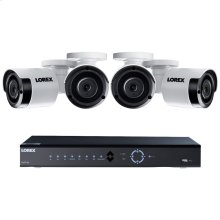 8-Channel 4K 2TB PoE NVR with Four 5.0-Megapixel Color Night Vision Indoor/Outdoor Security Cameras