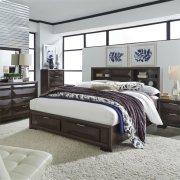 Queen Storage Bed, Dresser & Mirror, NS Product Image