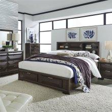 Queen Storage Bed, Dresser & Mirror, NS