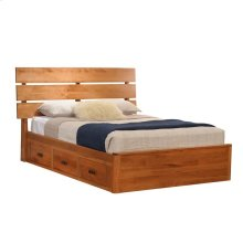 Full Galaxy Slat Platform Bed with Drawers