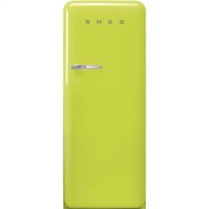 "Smeg24"" retro-style fridge, Lime green, Right-hand hinge"