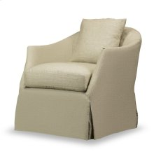 Amy Slip Covered Swivel Chair - Natural Linen