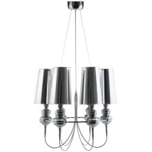 Tapestry Stainless Steel Chandelier in Silver