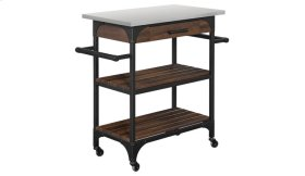 For a convenient way to accessorize your kitchen with industrial style, ser...