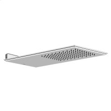 """Wall-mounted shower head Mirror steel 1/2"""" connections Projection from wall 21-5/8"""" Max flow rate 2"""