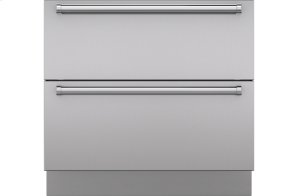 """Integrated Stainless Steel 36"""" Drawer Panels with Pro Handles"""