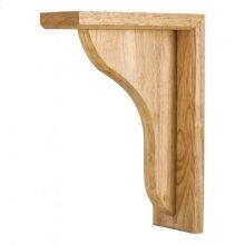 "3"" x 7-5/8"" x 10-1/2"" Wood Bar Bracket Corbel, Species: Rubberwood"