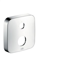 Brushed Chrome Extension escutcheon two hole 0-1-2