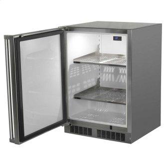24-In Outdoor Built-In All Refrigerator with Door Swing - Left