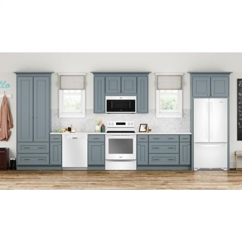 Whirlpool® 6.4 Cu. Ft. Freestanding Electric Range with Frozen Bake™ Technology - White