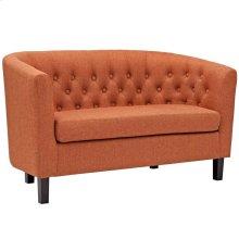 Prospect Upholstered Fabric Loveseat in Orange