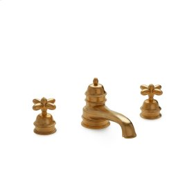 Antique Gold Grey Series I Cross Handle Deck Mount Tub Set