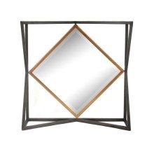 Black/gold Square Metal Mirror, Wb