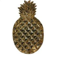"Gold Ceramic Pineapple Plate 13.25"""