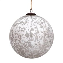 "8"" Classic Silver Ball Ornament"